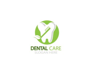 Dental care icon logo vector template