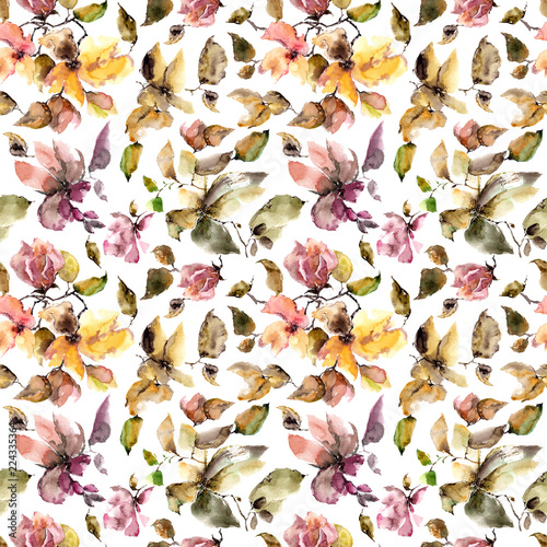 autumn floral pattern seamless floral background fabric floral