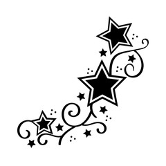 Tattoo Star Stencyl Design - Ready for Print