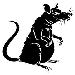 Rat silhouette 001