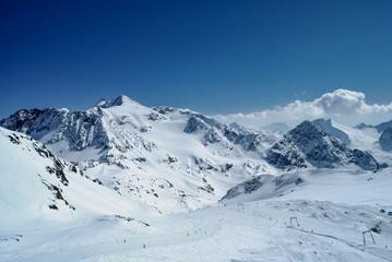 View on Austria Alps in winter