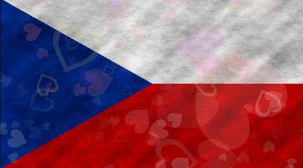 Illustraion of Czech Flag