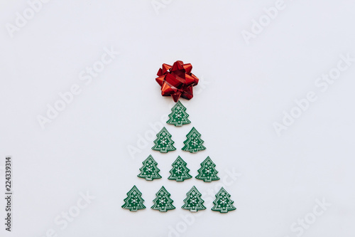creative idea in minimalistic style for christmas or new year themes christmas tree from other