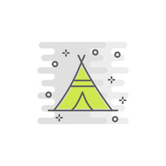 wigwam color icon. Element of Happy Thanksgiving Day illustration. Premium quality graphic design icon. Signs and symbols collection icon for websites, web design, mobile app
