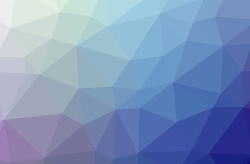 Illustration of abstract low poly blue horizontal background.