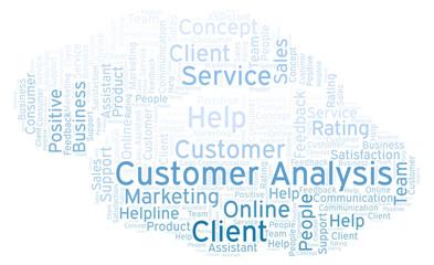 Customer Analysis word cloud.
