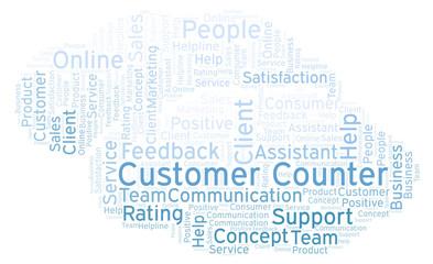 Customer Counter word cloud.