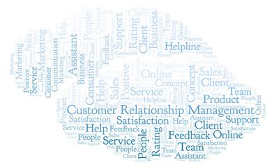 Customer Relationship Management word cloud.
