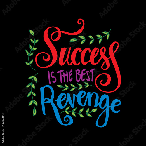 Success Is The Best Revenge Motivational Quote Stock Photo And