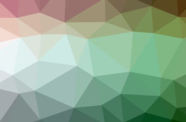Illustration of green low poly beautiful multicolor background.