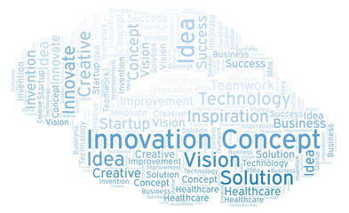 Innovation Concept word cloud, made with text only.