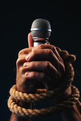 Freedom of speech, conceptual image