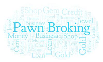 Pawn Broking word cloud.