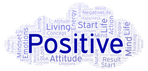 Positive word cloud, made with text only.