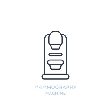 Mammography machine line icon