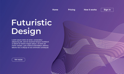 Minimalist landing page background design with abstract geometric modern style template. Eps10 vector illustration.