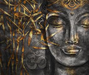 Printed kitchen splashbacks Buddha Head Smiling Buddha