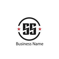 Initial Letter SS Logo Template Design