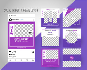 Editable Instagram Post template.  Social Media Banners for Digital Marketing