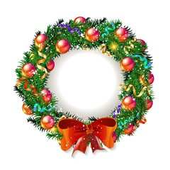 Christmas wreath 2019 with red bow