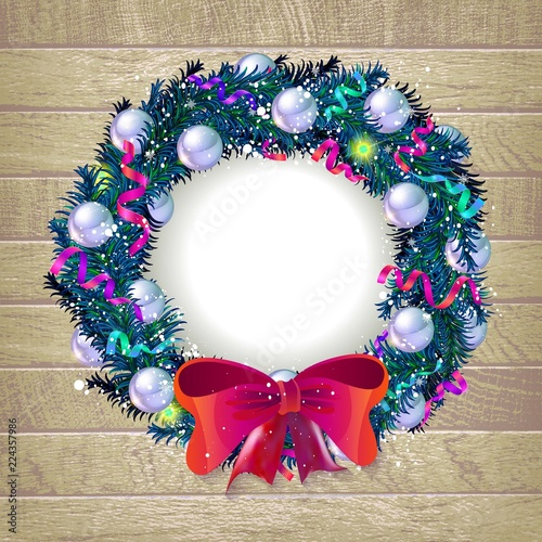 christmas wreath template 2019 stock image and royalty free vector
