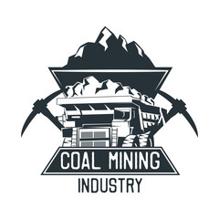 coal mining insignia. vector illustration