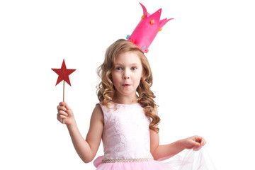 Candy princess girl with magic wand