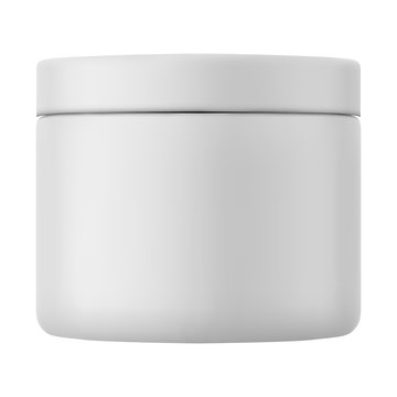 Plastic Jar Container - Mock Up Template Isolated on White Background Easy to Edit