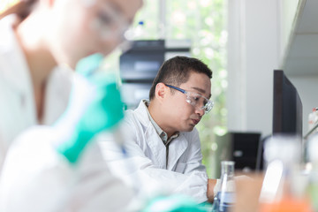 people working at laboratory