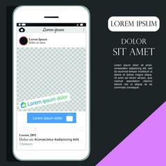 framework for online store, vector illustration, online trade, pink colour