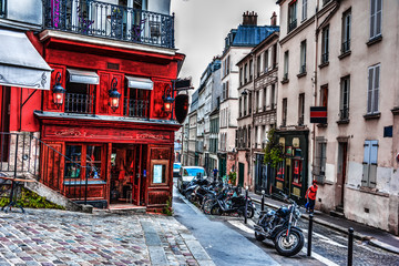 Picturesque corner in world famous Montmartre neighborhood