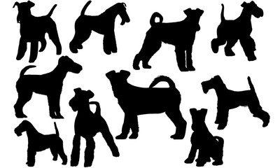 Fox Terrier Dog svg files cricut,  silhouette clip art, Vector illustration eps, Black Dog  overlay