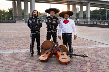 Mexican musicians mariachi band