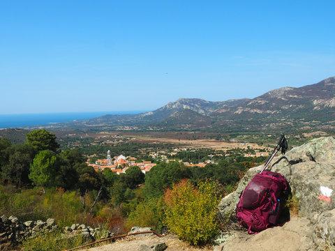 Korsika - Wanderpause auf dem GR20