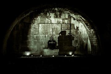 Horror scene with long exposure