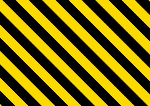 Black and yellow striped background. Vector illustration