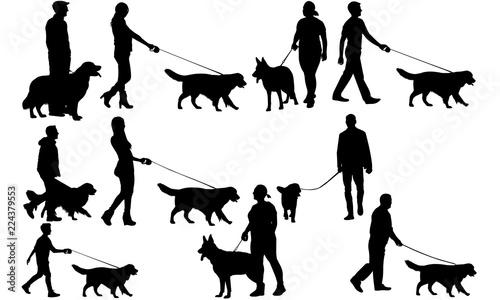 Walking a Dog svg files cricut, Girl Walking a Dog