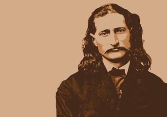 Hickok, célèbre personnage américain, légende de la conquête de l'ouest.