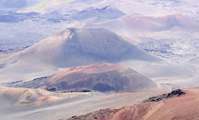 A View of Craters at Haleakala National Park, Maui, Hawaii