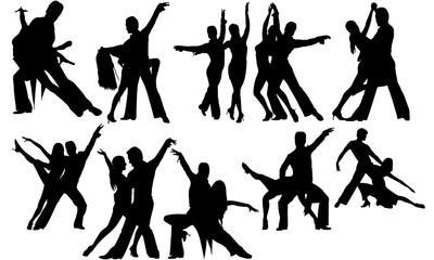 Salsa Dance svg, dance cricut files,  black dancer silhouette Vector clipart, illustration, eps, overlay
