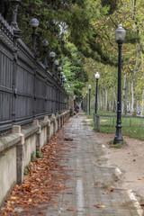 Street close to park Ciutadella,Barcelona.