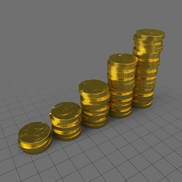 Stylized coins stack