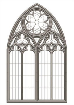 Medieval Gothic stained glass window