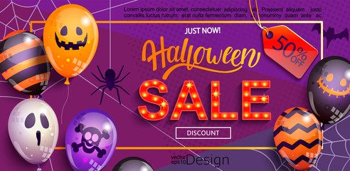 Sale Banner for Halloween.