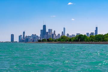 Chicago Skyline Viewed from Belmont Harbor