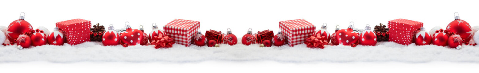 Panorama Hintergrund zu Weihnachten mit Geschenken