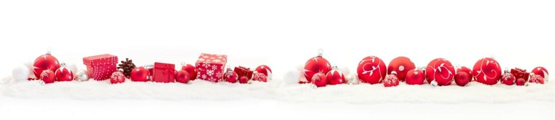Frohe Weihnachten Banner mit Textfreiraum