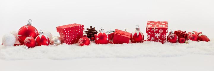 Weihnachten Banner als dekorativer Hintergrund mit Schnee
