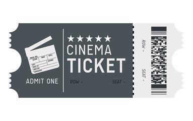 Cinema ticket vector design. Cinema ticket background.