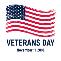 Veterans day November 11, 2018. Vector.